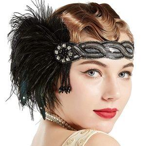 Vintage Art Deco Gatsby Flapper Headpiece NWT
